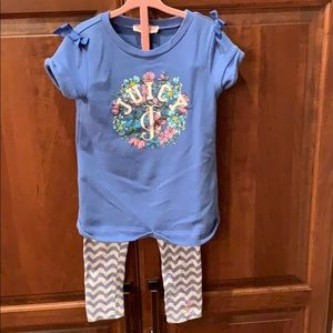 Girls Juicy Couture 4T top and leggings
